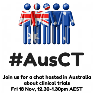 Join us 18Nov, 12.30AEST for a chat about clinical trials using #AusCT